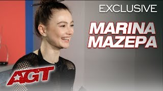 Marina Mazepa Relives Her Eerie Contorting Dance Performance! - America's Got Talent 2019