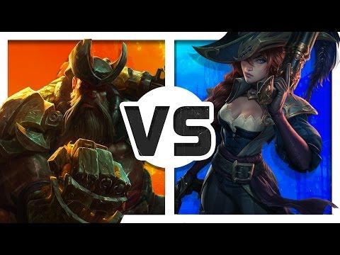 Gangplank vs Miss Fortune (Rap Battle) ft. Lunity