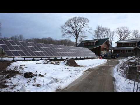20 kw PV solar energy system turned on