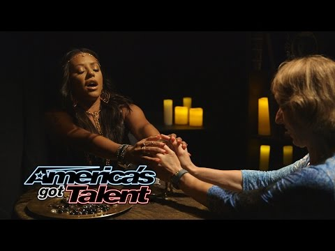 Mel B Pranks the Audience as Psychic Spice - America's Got Talent 2014
