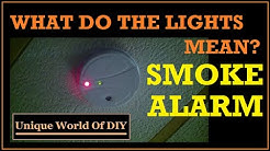 Smoke Alarm - What The Lights Mean