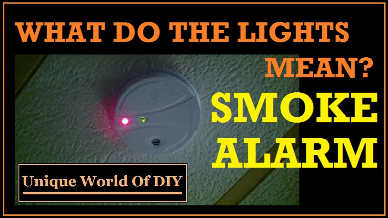 Smoke Alarm What The Lights Mean Youtube