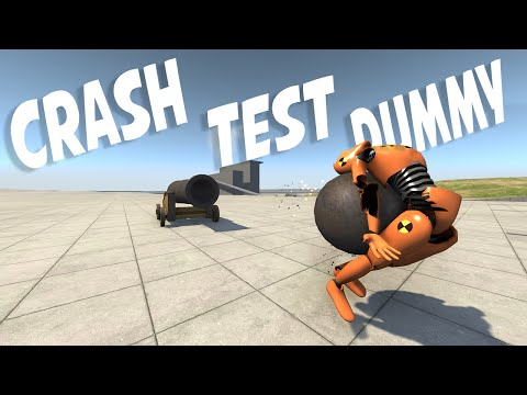 SHOOTING DUMMIES WITH CANNONS! - BeamNG Drive Ragdoll Crash Test Dummy