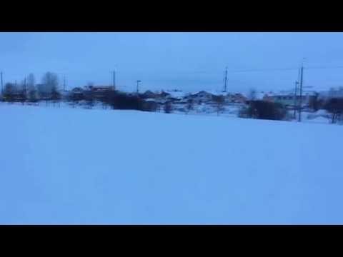 Школьный стадион в снегу