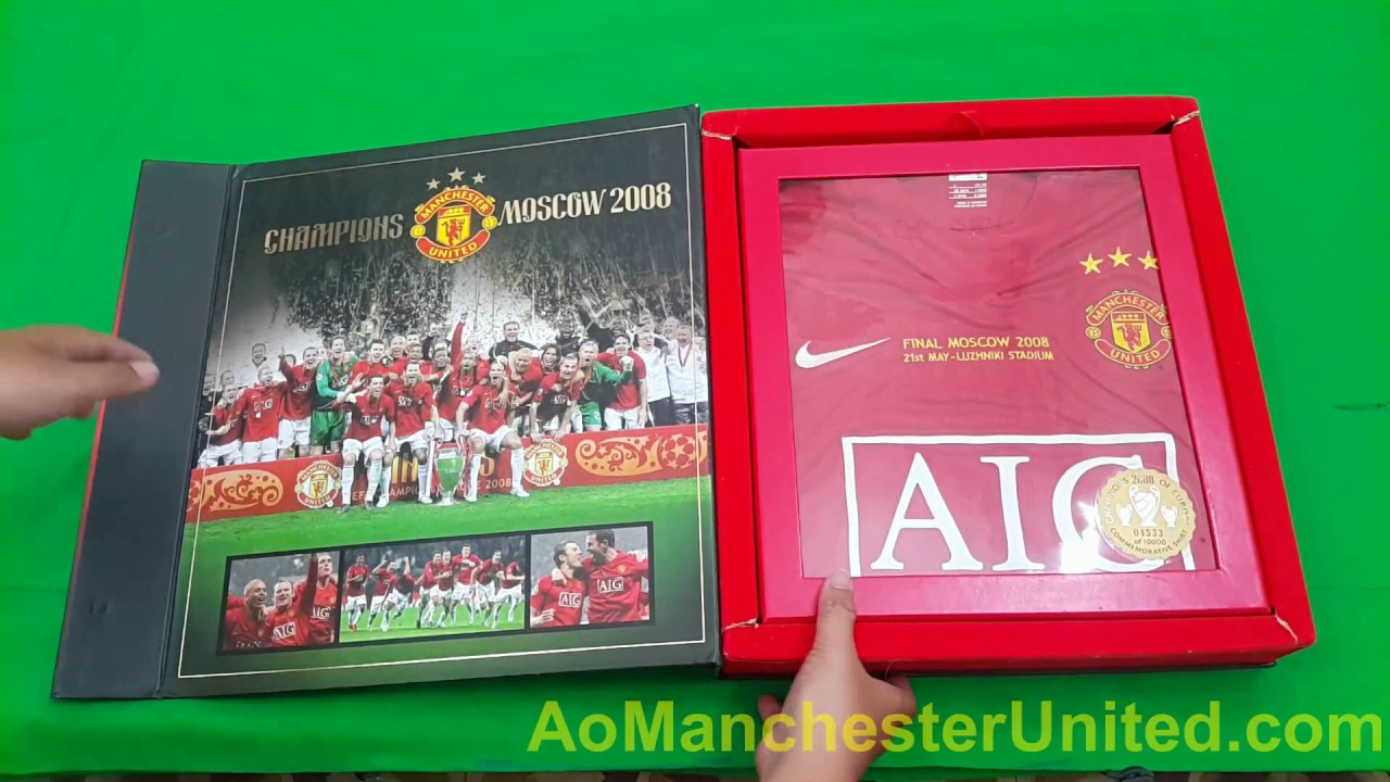 Review Manchester United '3 star' Commemorative Shirt Box Set 2008 AoManchesterUnited.com