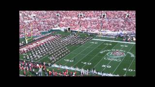 University Of Wisconsin Marching Band 2013 Rose Bowl Pre Game