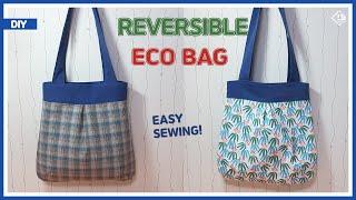 DIY/ REVERSIBLE ECO BAG/ SHOUL…