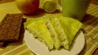 Завтрак для любимых | Омлет с курицей и сыром | ПП рецепт