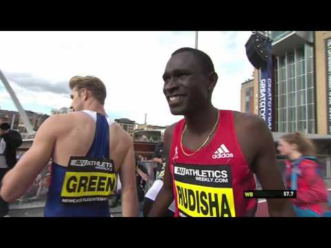 David Rudisha wins 500m - Great North City Games Newcastle 2016 FULL HD