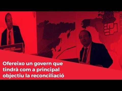 Miquel Iceta: Ofereixo un govern que tindrà com a principal objectiu la reconciliació