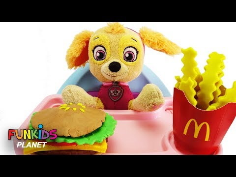 Best Learn Colors Video Baby Skye PAW PATROL Eats McDonald's and Gumballs