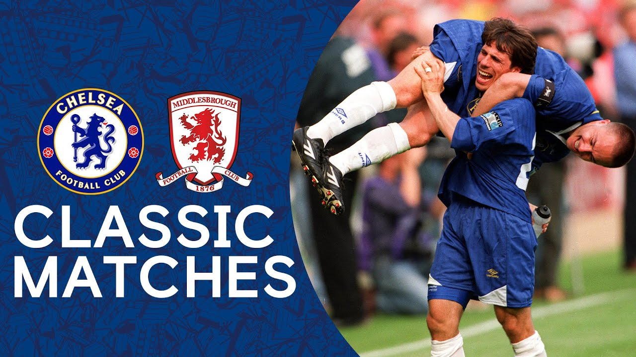 Chelsea 2-0 Middlesbrough | Roberto Di Matteo Screamer Clinches The Cup | 1997 FA Cup Final