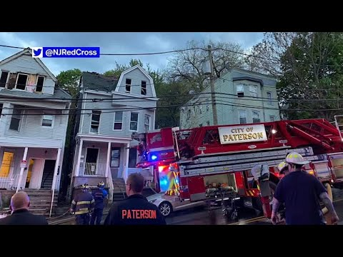 Six families displaced after fire tears through New Jersey home