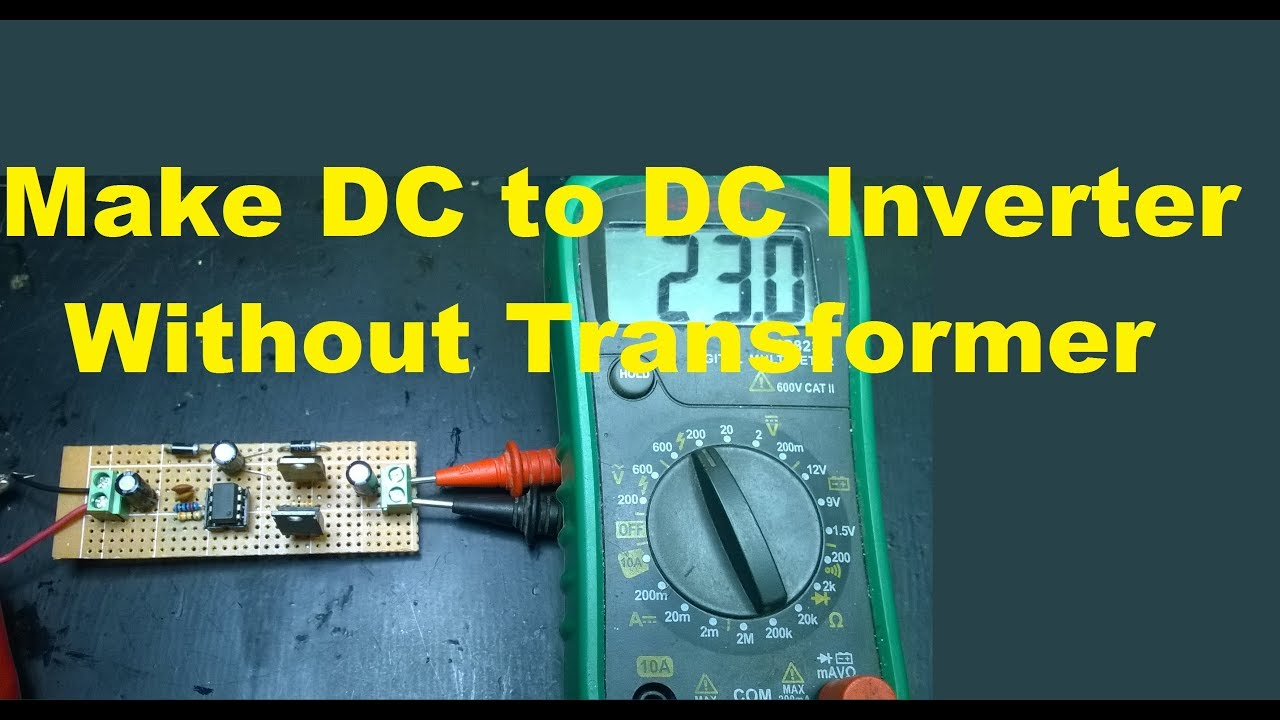 Make Dc To Inverter Without Transformer Circuit Youtube A Digital Thermometer With Ic Ds18b20 Pic 18f4550