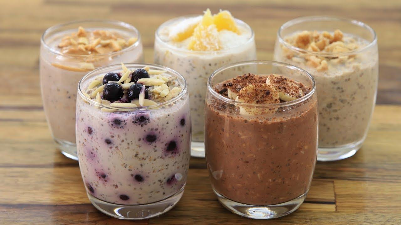Overnight Oats 5 Easy Healthy Recipes Youtube