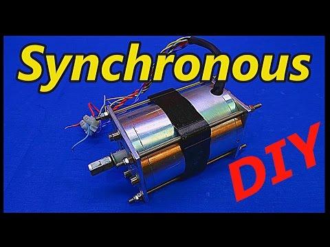 Make Permanent Magnet Synchronous Motor Generator DIY-Circuit!