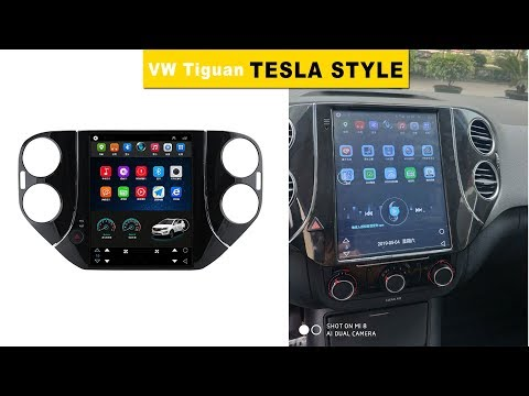 Volkswagen Tiguan Tesla Style Android Head Unit- Wiring and Review