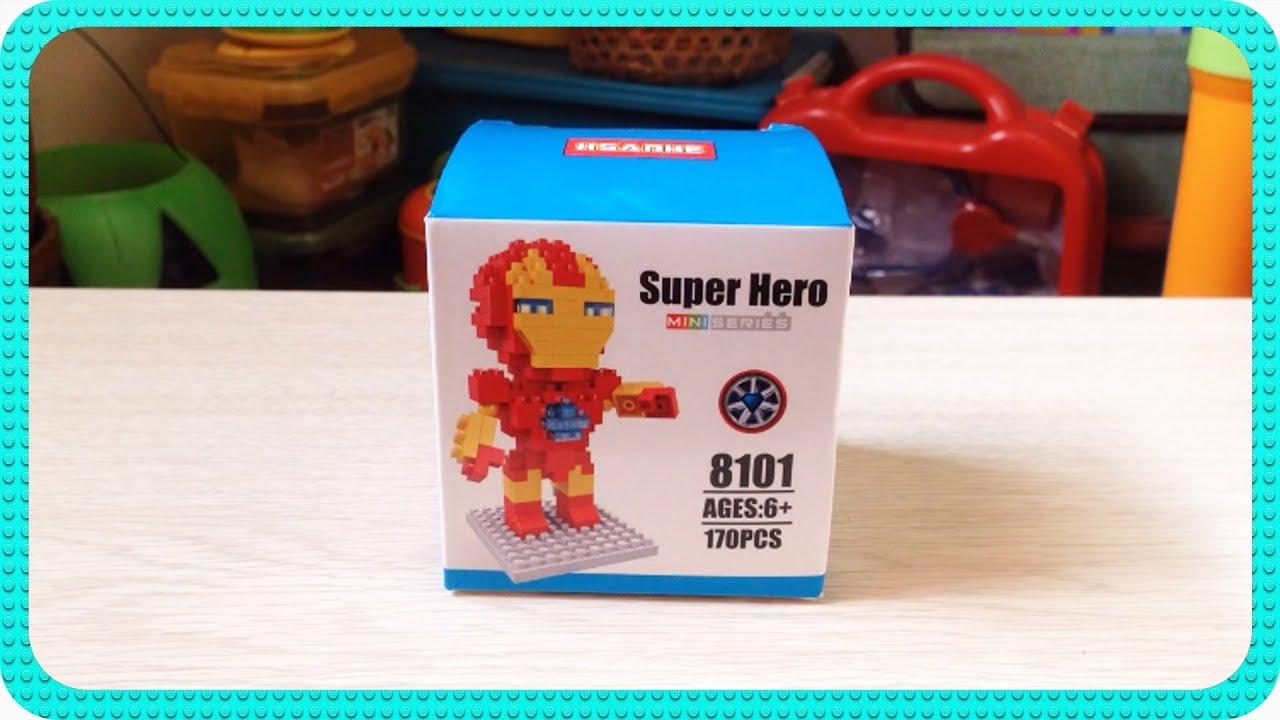 Hsanhe Nano Block The Flash Cek Harga Terkini Dan Terlengkap Indonesia 8302 Guitar Unboxing And Stop Motion Of Ironman Super Hero Mini Series