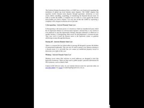 Intellectual Property Lawyer   Internet Domain Name Law