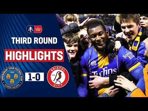 Pierre's Winner Knocks Out The Robins | Shrewsbury Town 1-0 Bristol City | Emirates FA Cup 19/20