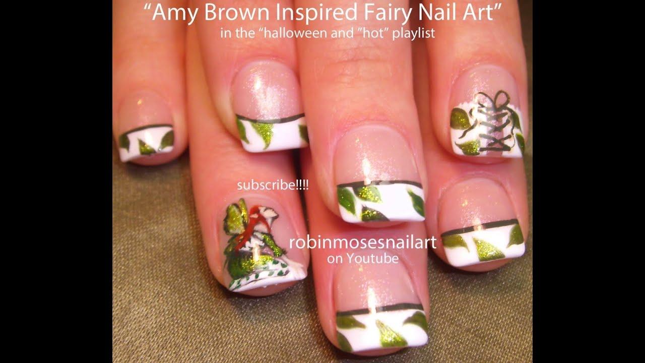 Fairy Nail Art: DIY Fairies On French Corset Nails Design