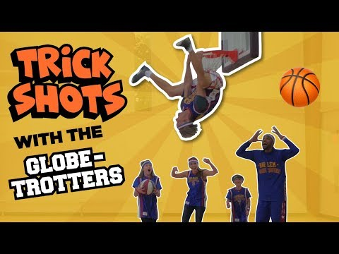 Trick shots and SLAM DUNKS with the Harlem Globetrotters // The Holderness Family