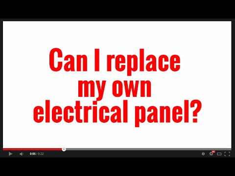 Can I replace my own electrical panel?