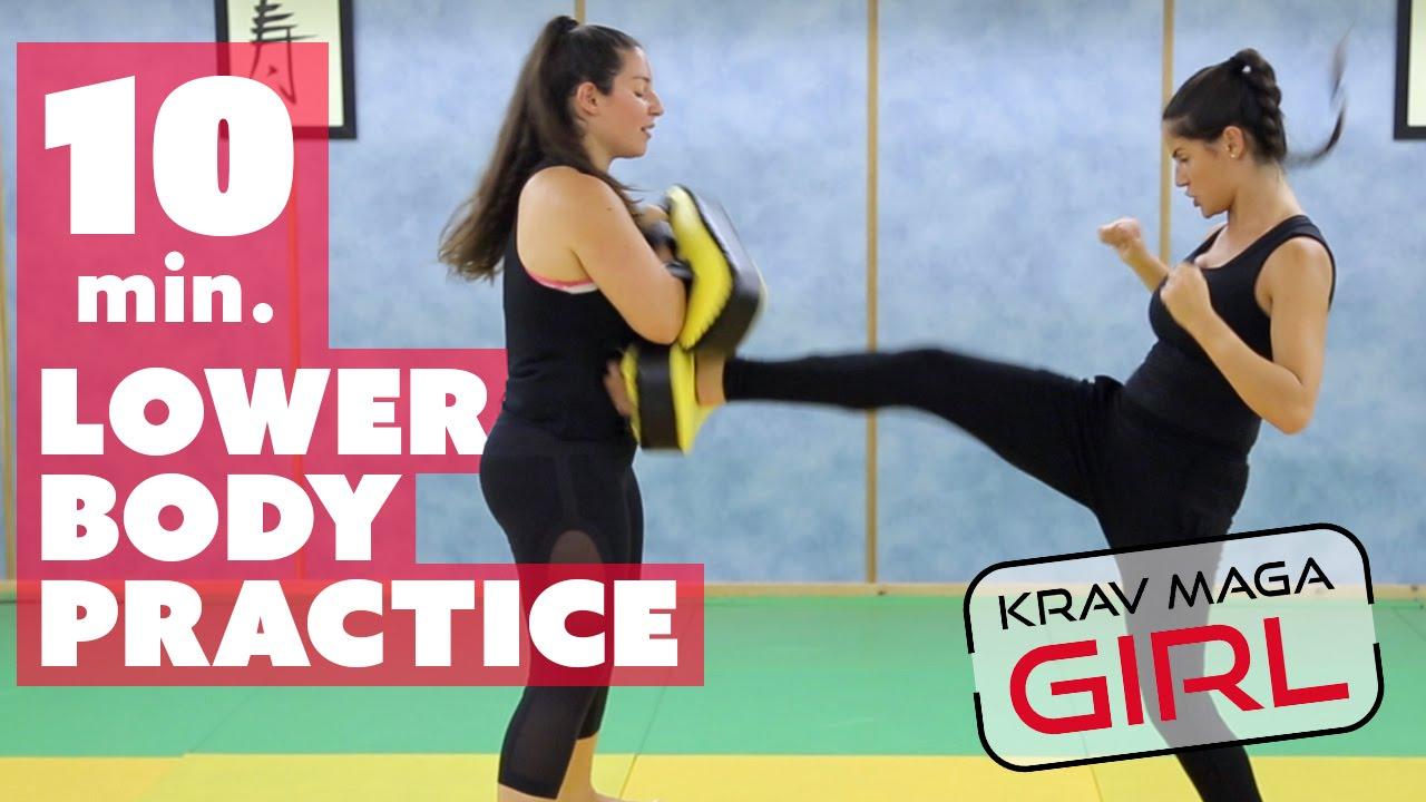 Krav Maga Girl Lower Body Practice Youtube