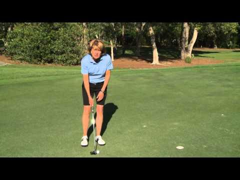 Dawn Mercer golf putting lesson