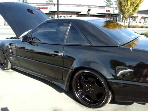 EURO SPEC IMPORTED WIDE BODY 500SL AMG mercedes BLACKED ...