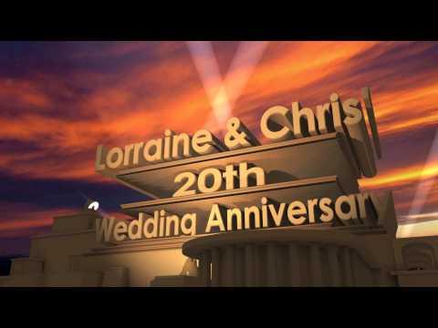20th wedding Anniversary Intro