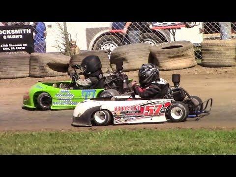 Squirt Kart Feature | Eriez Speedway | 9-23-17