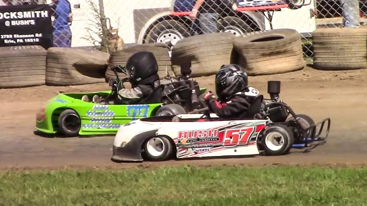 Go Kart Racing Pa >> Squirt Kart Feature Eriez Speedway 9 23 17 Youtube