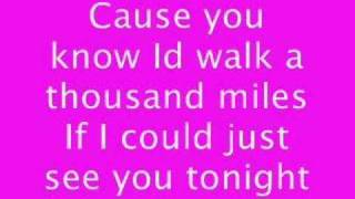 Repeat youtube video A thousand miles (lyrics)