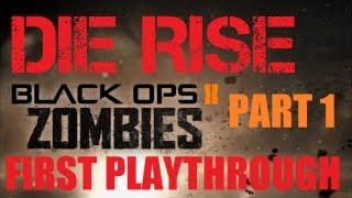 Die Rise: Our 1st Playthrough Part 1 - A VERY Confusing Map! with Live Commentary