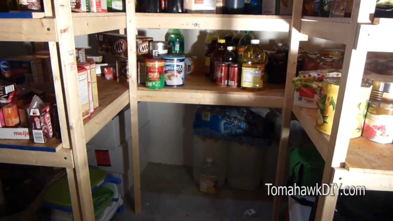 How To Build Simple Basement Shelves   YouTube