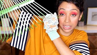 DOING MAKE UP WITH GARDENING TOOLS!! thumbnail