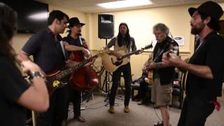 Bob Weir & The Avett Brothers Rehearse Backstage At Mountain Jam 2014