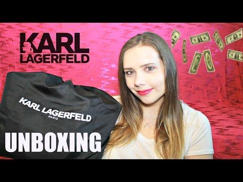 KARL LAGERFELD Handbag Unboxing || Pearls & Curls Sisters