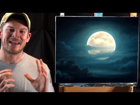 How To Paint A Full Moon