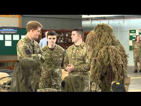 Prince Harry visits RAF Honington 10.02.12