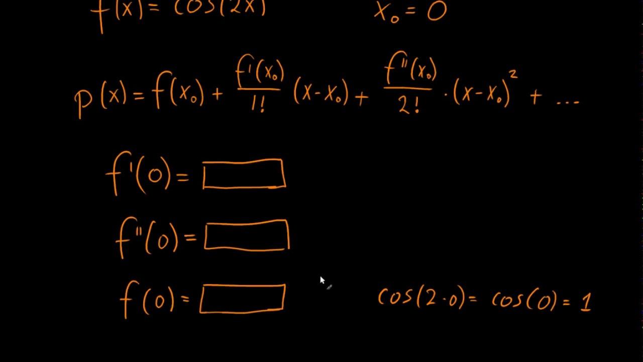 Taylor udvikling af cos(2x)