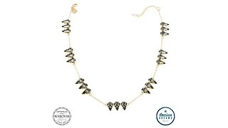 """Shelly Brown """"Triplet"""" Pear Crystal 16"""" Station Necklace"""