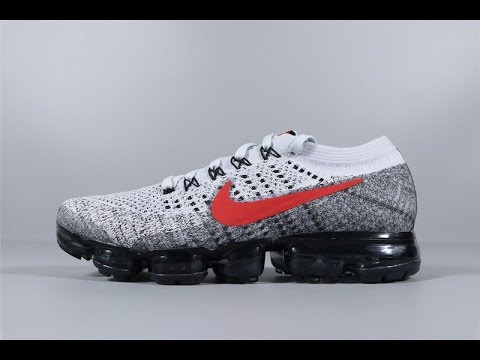 Nike Air VaporMax Flyknit Grey Red Black 849558 020 Trainers Men's Running  Shoes FROM Robert
