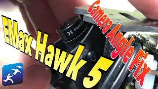 EMax Hawk 5 Mod 1.  Getting more FPV camera angle