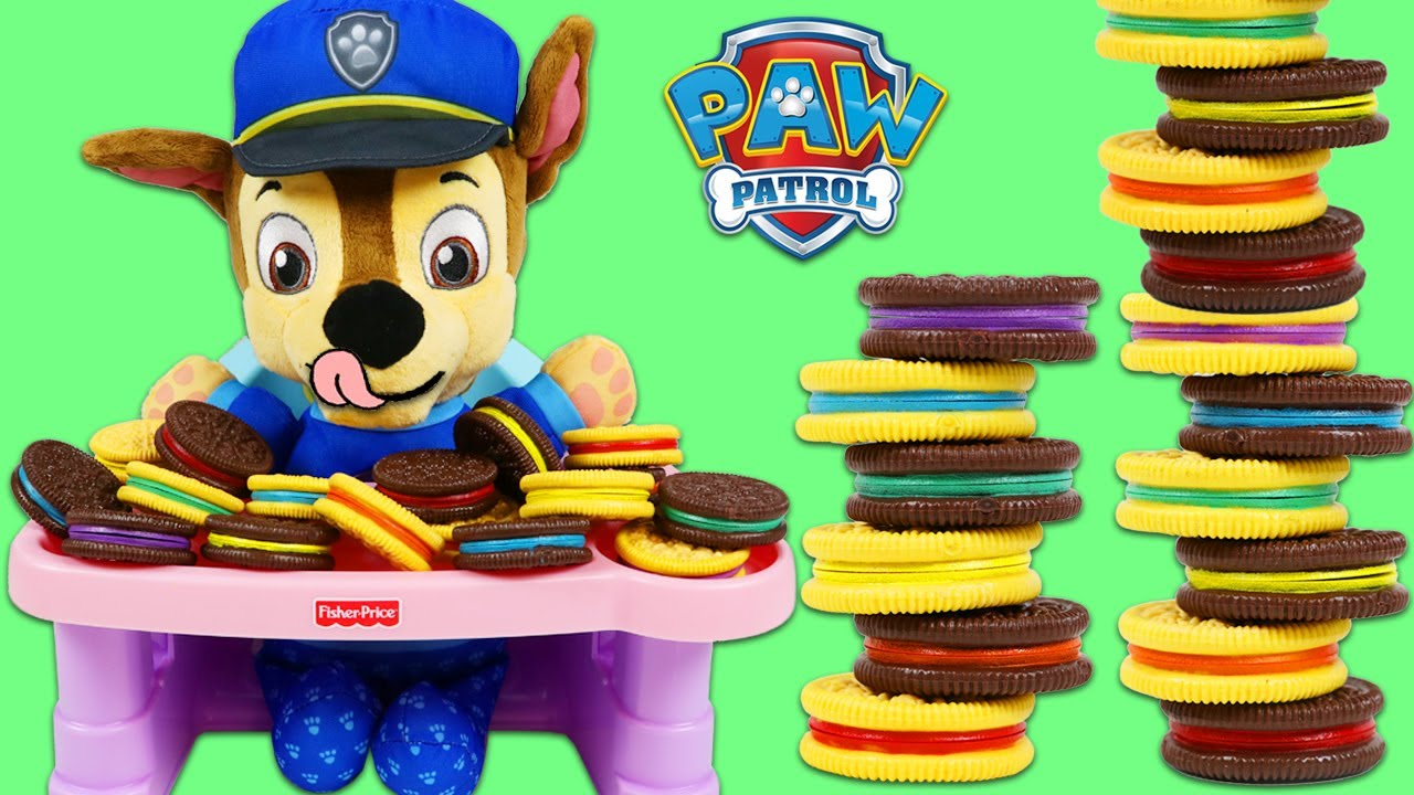 Download Paw Patrol Baby Chase Plays Cookie Color Matching Game!