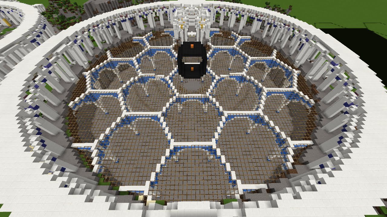 how to build a hexagon in minecraft