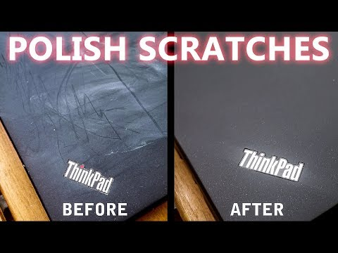 ThinkPad T430s - polish smaller scratches & clean surface (looks nearly like new again) - part 5