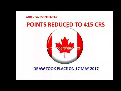 Points reduced for Canada PR in express entry pool