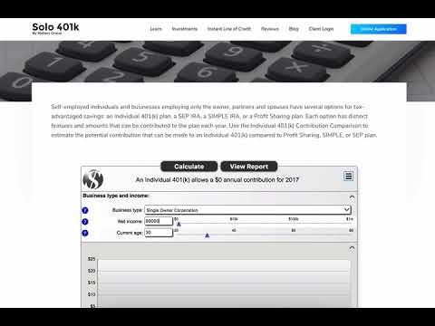 Solo 401k Contribution Calculator - YouTube